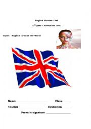 English Worksheet: The evolution and globalization of the Engliksh lamguage.