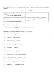 English Worksheet: So vs. Because