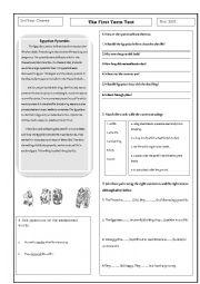 English Worksheet: Ancient Egyptian Civilisation: The Pyramids,Mummification;Hieroglyphics