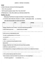 English Worksheet: 9th Form lesson 3