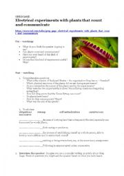 English Worksheet: TED Talk - Plants can count and communicate