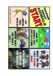 English Worksheet: ANIMAL BOARD GAME 1 de 4