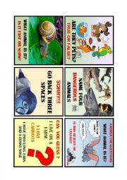 English Worksheet: ANIMAL BOARD GAME 2 de 4