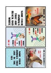 English Worksheet: ANIMAL BOARD GAME 3 de 4