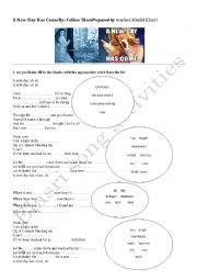 English Worksheet: Song activity