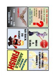 English Worksheet: Animals Board Game 4 de 4