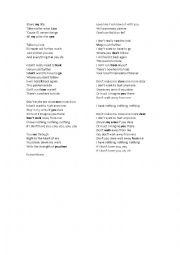 English Worksheet: I have nothing - Whitney Houston - Eng 1