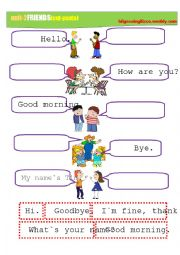 English worksheet: Greetings and Meeting