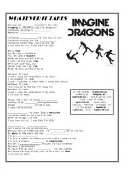 English Worksheet: Whatever it takes - Imagine Dragons