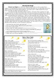 Van Gogh biography and song
