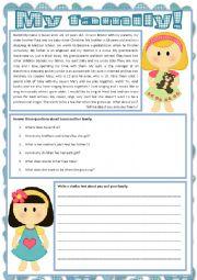 English worksheet: My family!