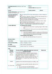English Worksheet: Planets Lesson plan