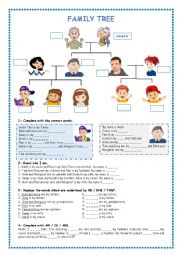 English worksheet: Family Tree
