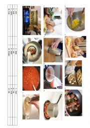 English Worksheet: Elementary-lower intermediate cooking vocabulary and conversation