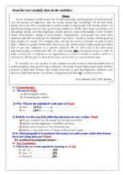 English Worksheet: ethics-test