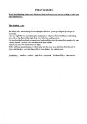English Worksheet: Urban legends