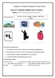 English Worksheet: 2nd term- exam for grade 4 elementary
