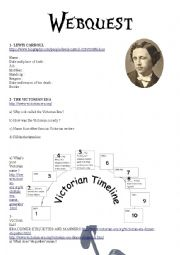 English Worksheet: Webquest Lewis Carroll