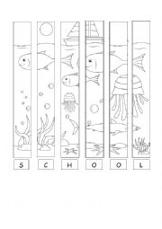 English Worksheet: Summer puzzle picture - Under the Sea
