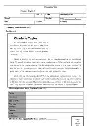 English Worksheet: Personal Identification_Test NEE