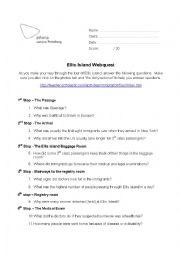 English Worksheet: Ellis Island