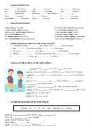 English Worksheet: the verb