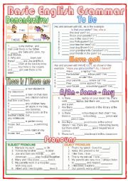 English Worksheet: Basic English Grammar