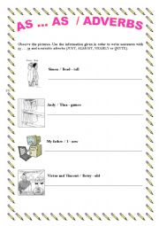 English Worksheet: COMPARATIVE OF EQUALITY