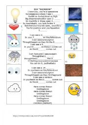 English Worksheet: Sia Rainbow