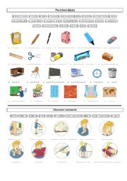 English Worksheet: school supplies and classroom orders