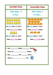 English Worksheet: MANY/MUCH/FEW/LITTLE