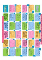 English Worksheet: First Conditional Conversation Board Game-Editable-It promoted some time of interaction