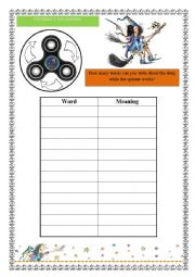 English Worksheet: SPINNER WITH WINNIE