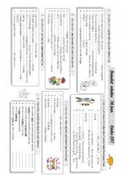 English Worksheet: remedial activities