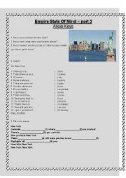 English Worksheet: New York - Empire State of Mind by Alicia Keys