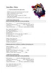 Listening activities worksheets