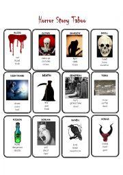 English worksheet: Horror Story Taboo