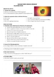 English Worksheet: Halloween prank - The big bang theory