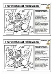 English Worksheet: the witches of Halloween