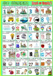 English Worksheet: GO  GREEN using must or mustn´t.
