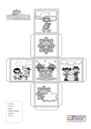 English Worksheet: HOW�S THE WEATHER? SPINNER