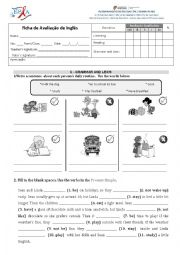 English Worksheet: 6th form test part 2