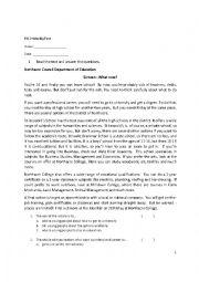 English Worksheet: PET reading test B1