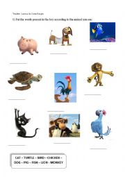 English worksheet: Animals and Pets