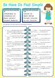 English worksheet: Be, Have, Do - Past Simple