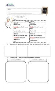 English Worksheet: Describing Food worksheet