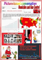 Picture based conversation.  Homicides in the USA. (Debating) 39/…