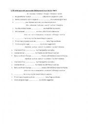 English Worksheet: conjunctions practice