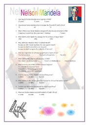English Worksheet: Video Worksheet - Nelson Mandela