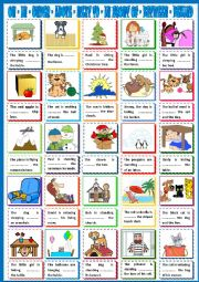 English Worksheet: PREPOSTIONS - ABOVE NEXT TO BEHIND IN FRONT OF BETWEEN ON IN UNDER